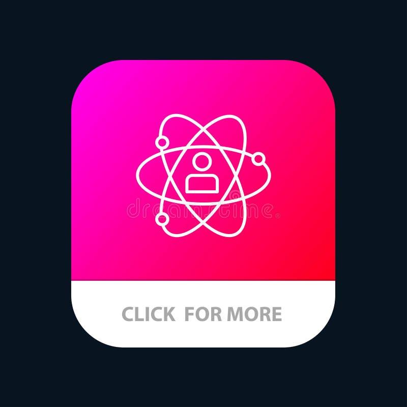 Utveckling tillväxt, människa, person som är personlig, makt, mobil Appknapp för talang Android och IOS-linje version vektor illustrationer