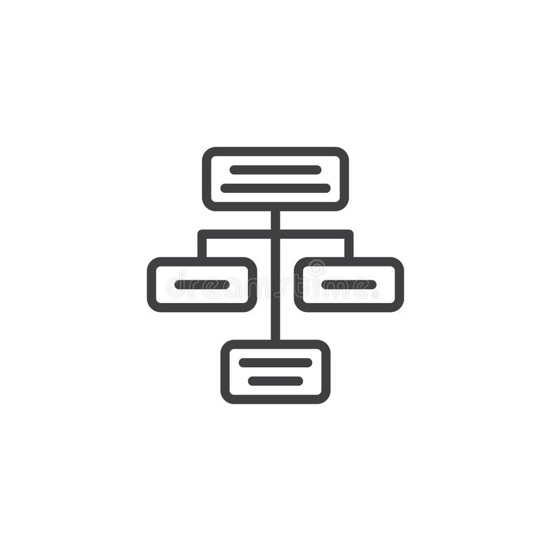 Utvecklingsöversiktssymbol royaltyfri illustrationer