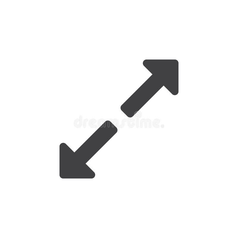 Utvidga symbolen, maximera den fasta logoillustrationen, pictogram stock illustrationer