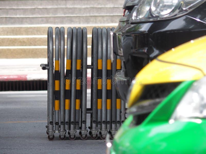 Utvidgbar trafikbarriär fotografering för bildbyråer