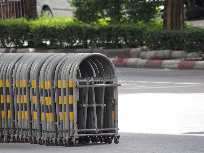 Utvidgbar trafikbarriär arkivfoto