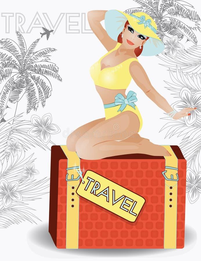 Utvikningsbrud för flicka för sommarloppskönhet, vektor vektor illustrationer