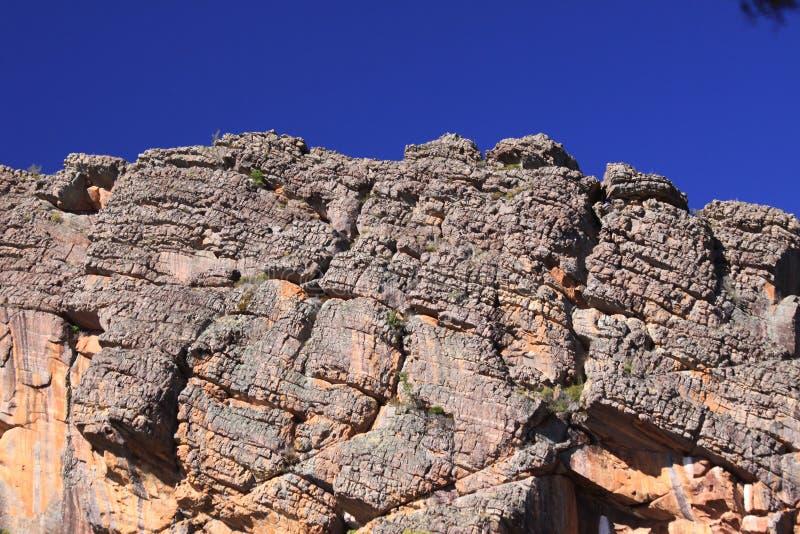 Utwory roślinne Rocky'ego w Parku Narodowym Grampians w Australii zdjęcia royalty free