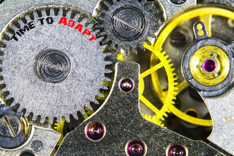 Uurwerk oude mechanische hoge resolutie met woordentijd aan Ada stock foto