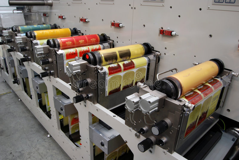 Download UV flexo press printing stock image. Image of office, bags - 8581007