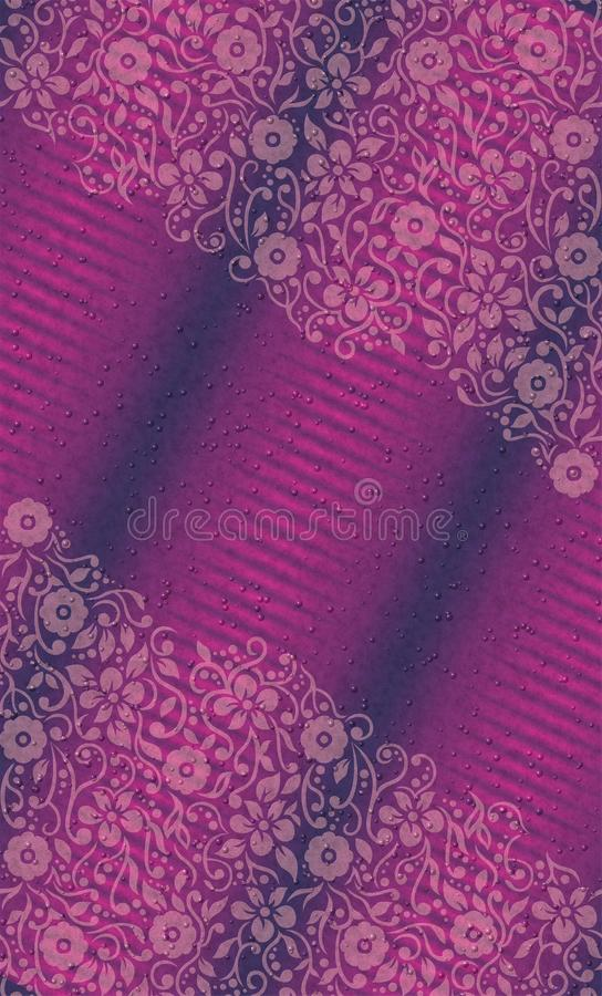 Free UV Floral Wallpaper With Textured Bubbles Vector Illustration Royalty Free Stock Photos - 113743138