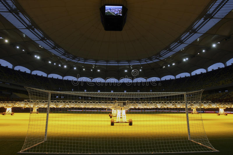 UV lamps system. Because of the many problems with the pitch on the Romanias National Arena has had since inauguration in 2011, officials in Bucharest have stock photography