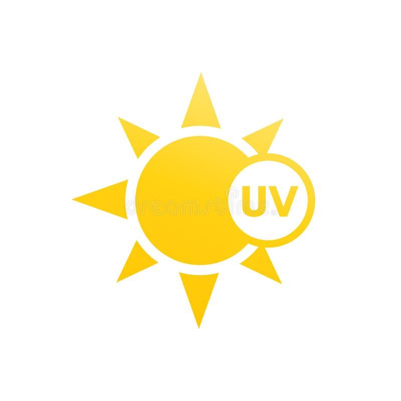 UV light icon vector illustration