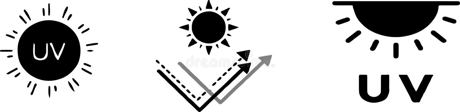 UV Radiation Icon Over White Royalty Free Cliparts, Vectors, And Stock  Illustration. Image 73777536.