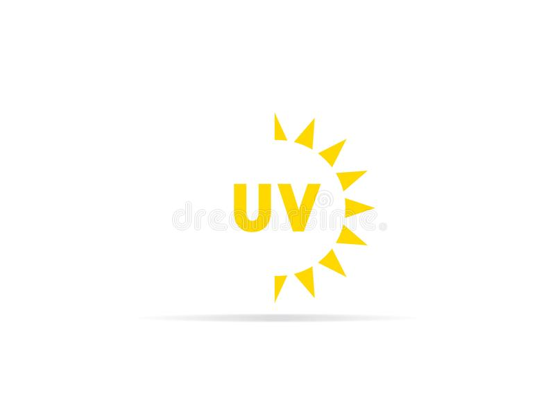 UV radiation icon, ultraviolet with sun logo symbol. vector illustration.  vector illustration