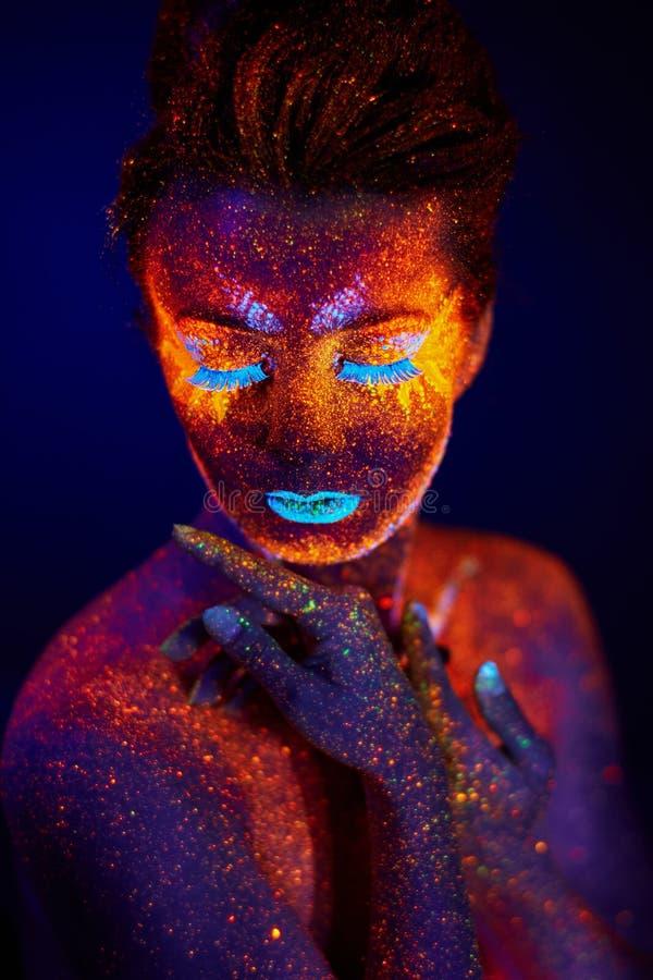 UV stående royaltyfria bilder