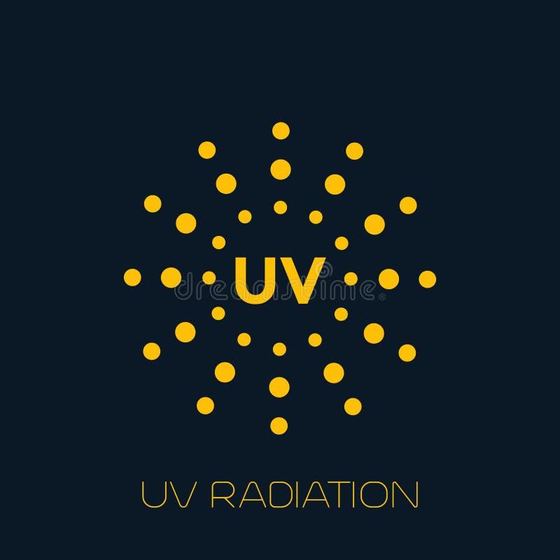 UV-Strahlungs-Ikone vektor abbildung