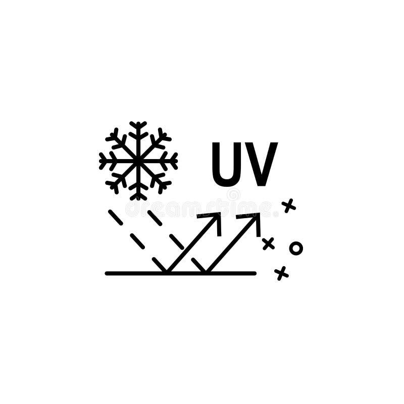 UV wintertextiel textiel pictogram Element van het pictogram van de eigenschappen van de stof vector illustratie