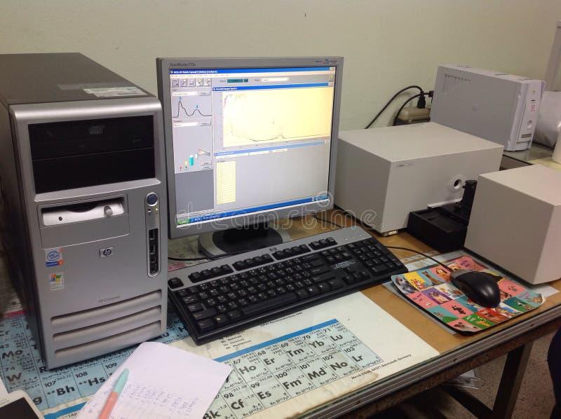 UV Zichtbare spectrometer royalty-vrije stock fotografie