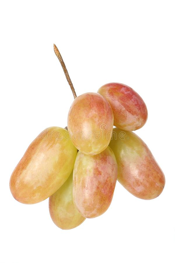 Uva dell'uva su fondo bianco fotografie stock