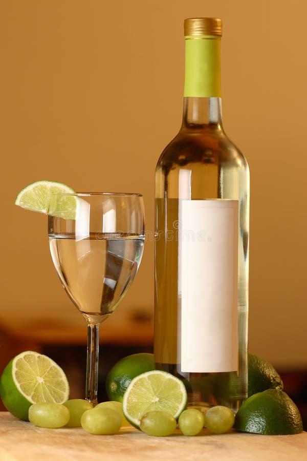 Uva della calce del vino fotografia stock libera da diritti