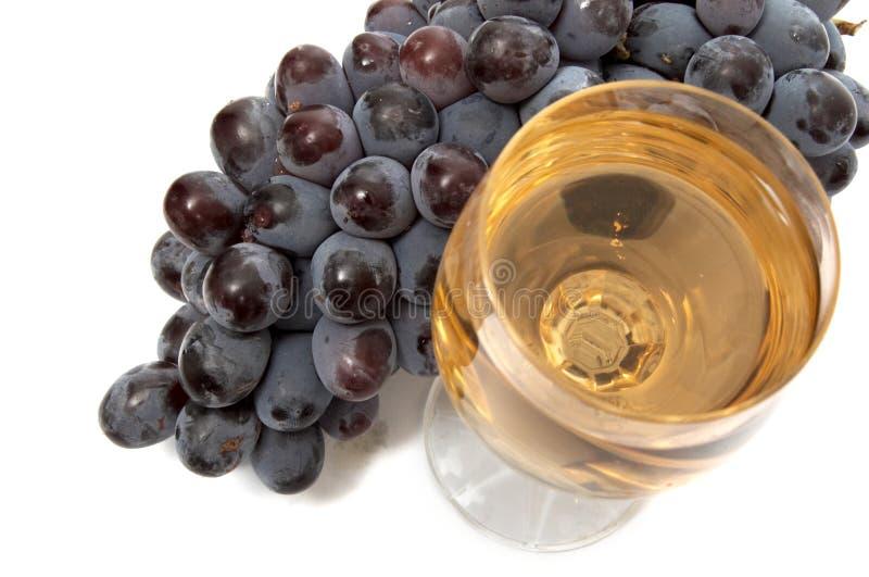 Uva e bicchiere di vino II immagini stock