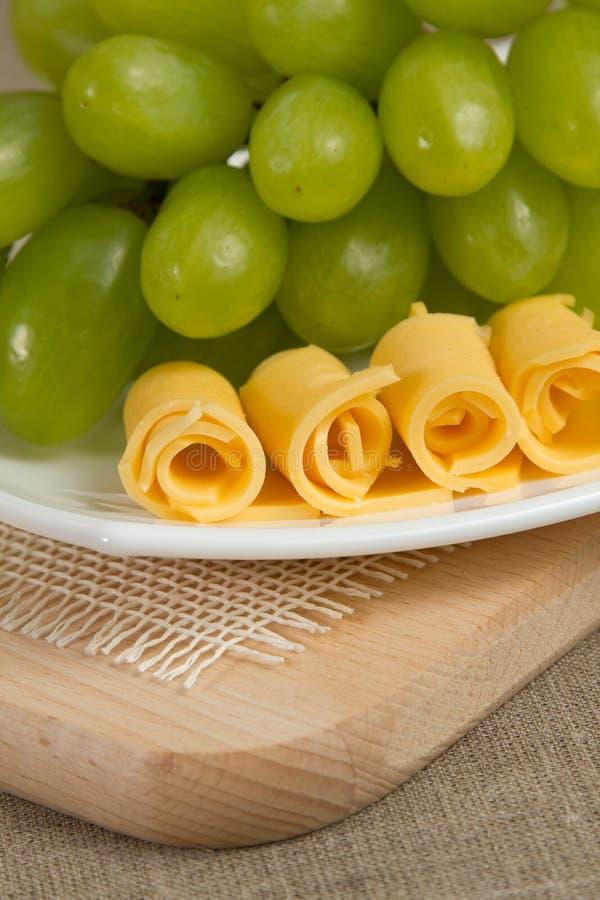 Uva e formaggio fotografia stock