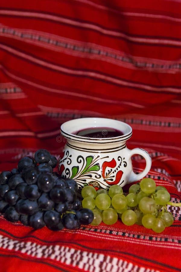 Uva e vinho imagens de stock