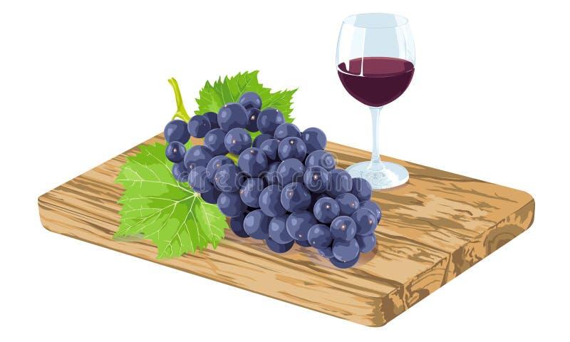 Download Uva e vino fotografia stock. Immagine di alimento, tagliare - 56892876