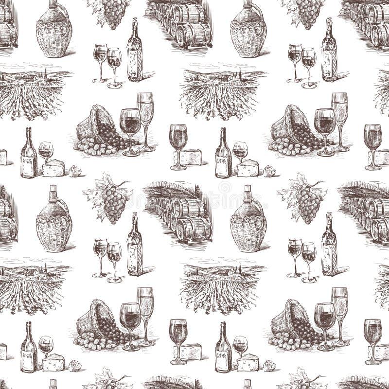 Uva para vinho ilustração stock