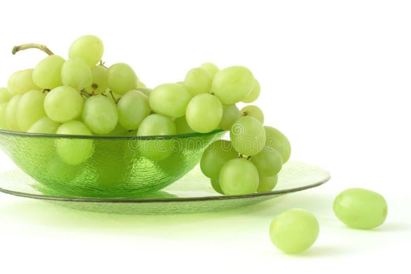 Uva verde em um backgrond branco imagem de stock