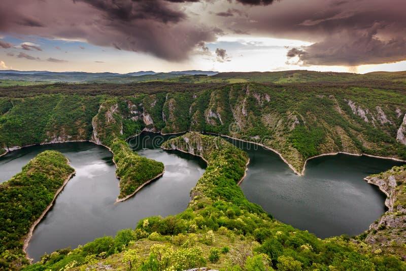 Uvac-Fluss lizenzfreies stockbild