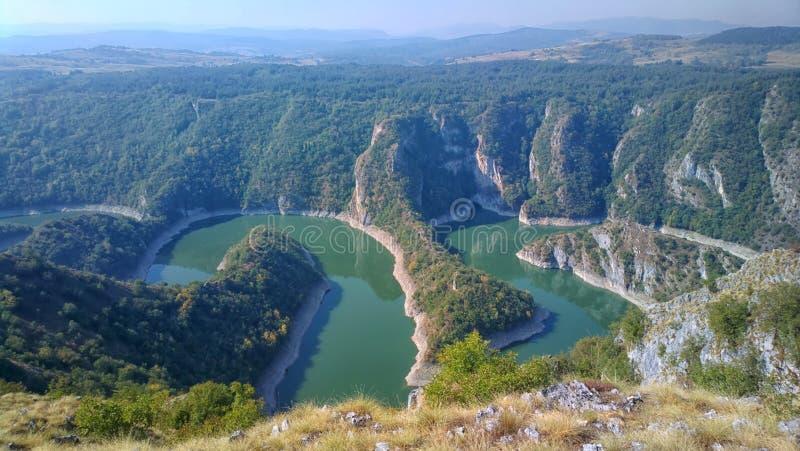 Uvacrivier, Servië stock afbeelding