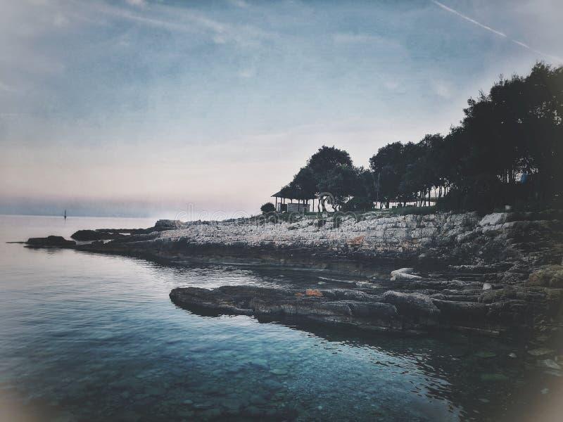 Uvala de Duga de côte, Croatie images libres de droits