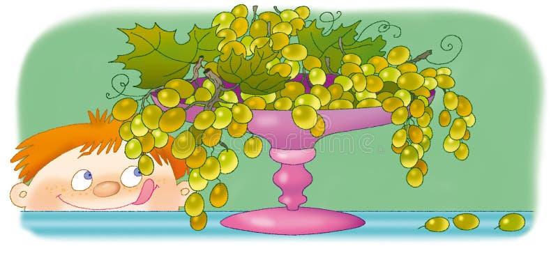 Uvas stock de ilustración