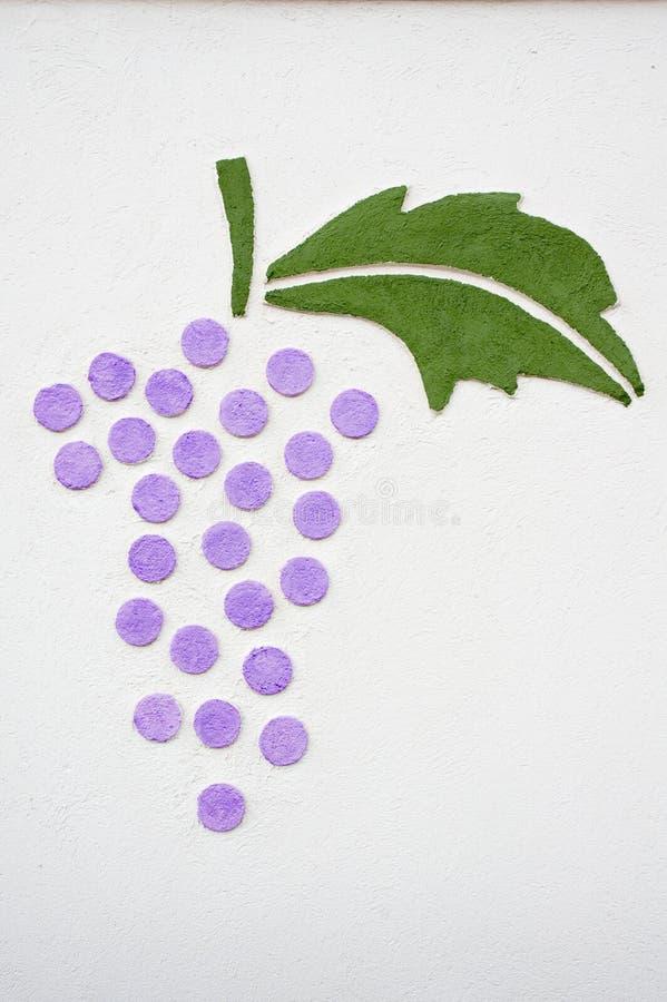 Uvas de la pared imágenes de archivo libres de regalías