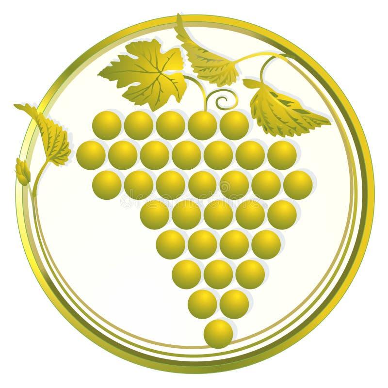 Uvas de oro ilustración del vector