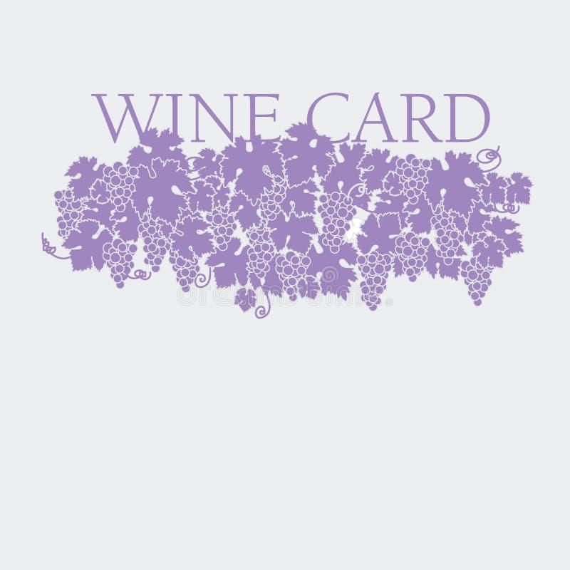 Uvas de suspensão com folhas ilustração stock