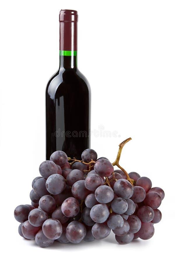 Uvas e frasco imagem de stock royalty free