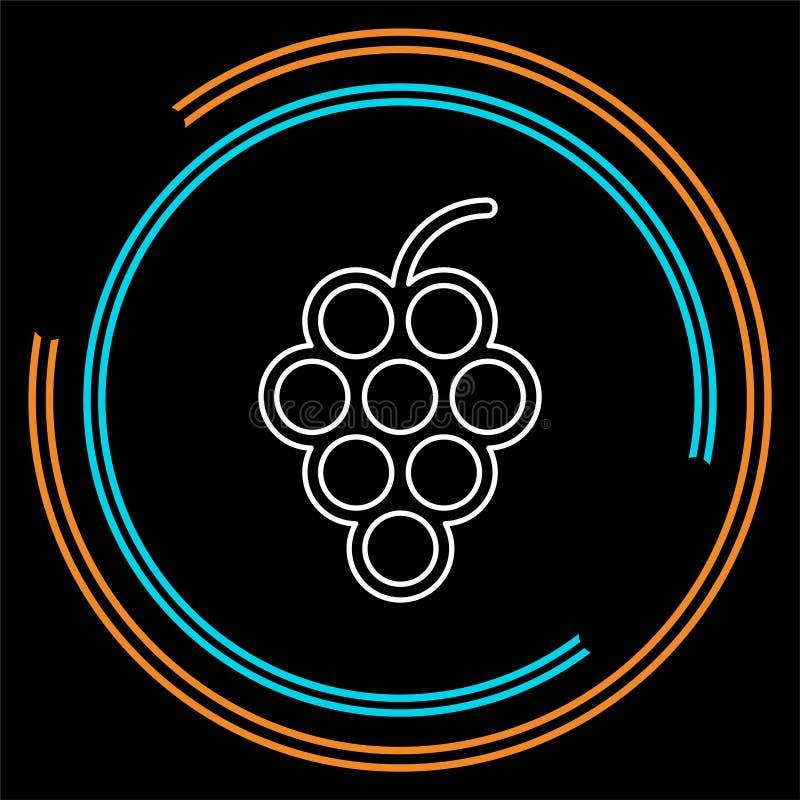 uvas icono, ejemplo de la fruta del vector, vino de la naturaleza ilustración del vector
