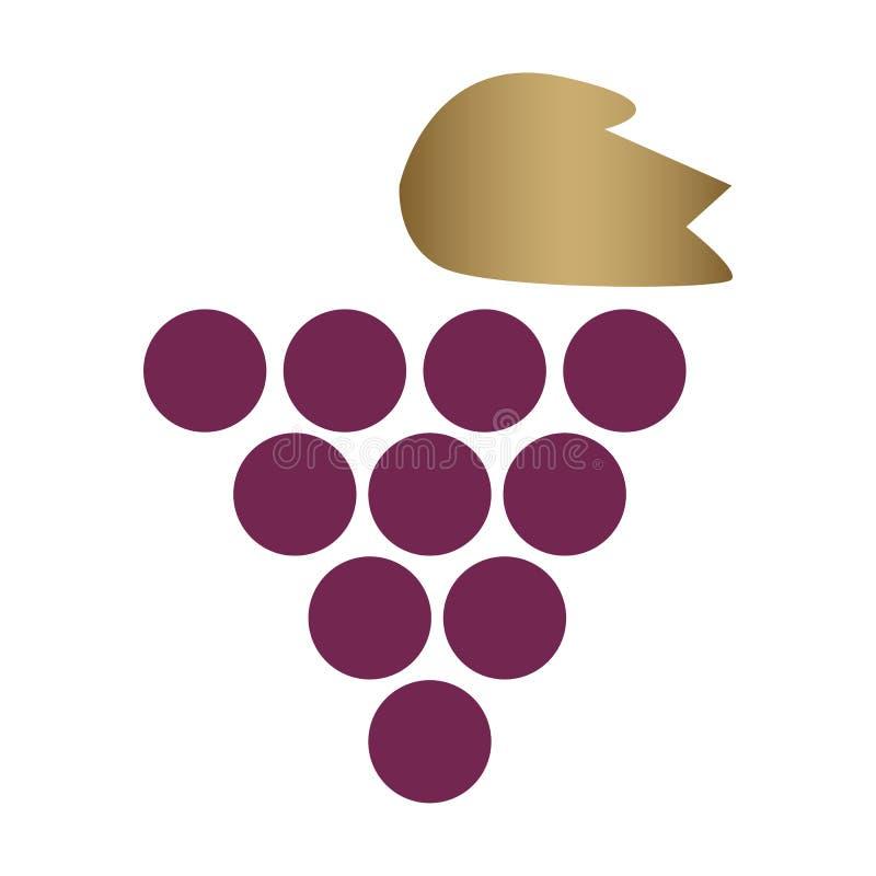 Uvas ou ilustração do ícone da uva ilustração do vetor