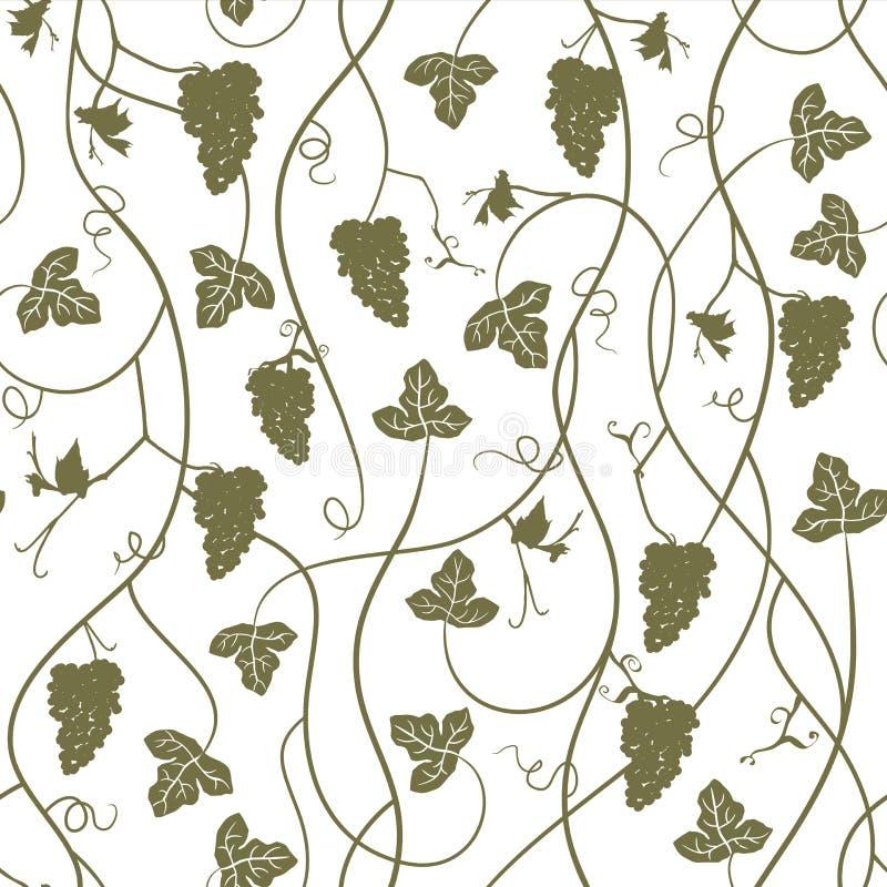 Uvas - papel pintado inconsútil repetidor, ejemplo del vector ilustración del vector