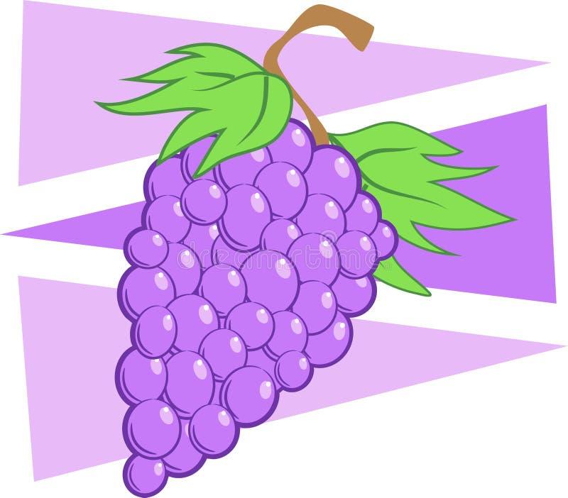 Uvas pretas ilustração do vetor