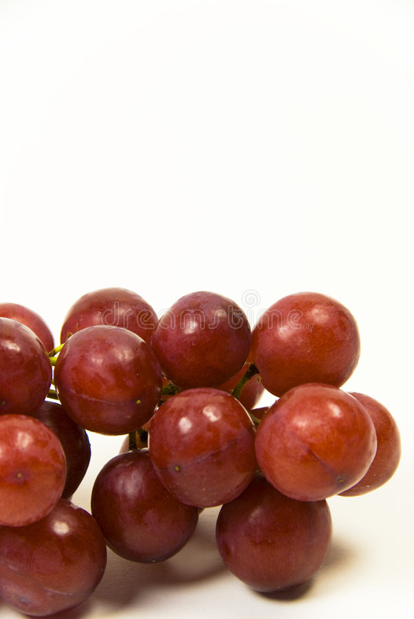 Uvas Seedless Suculentas Vermelhas Foto de Stock