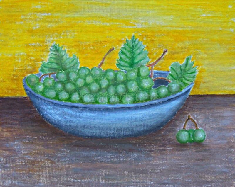 Uvas verdes ilustração do vetor