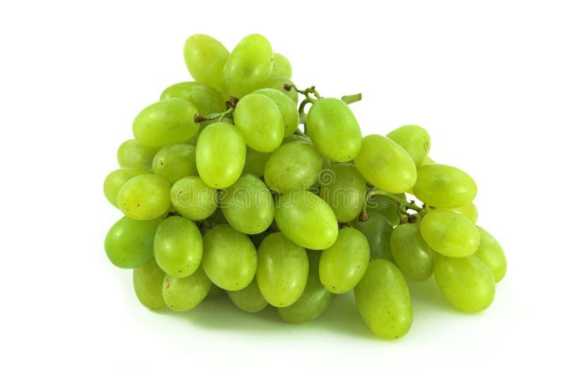 Uvas verdes no branco fotografia de stock