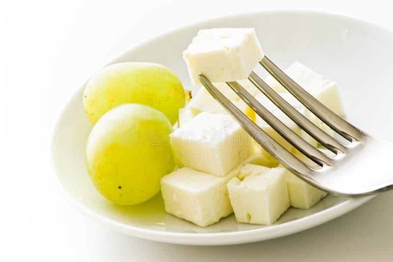 Download Uvas y queso foto de archivo. Imagen de delicioso, placa - 7275168