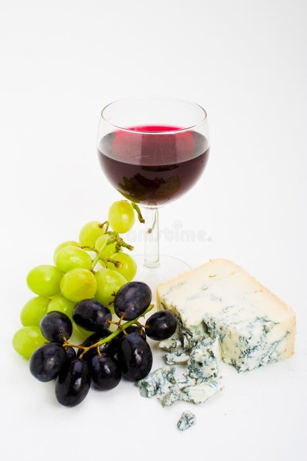 Uvas y queso de vino fotos de archivo libres de regalías