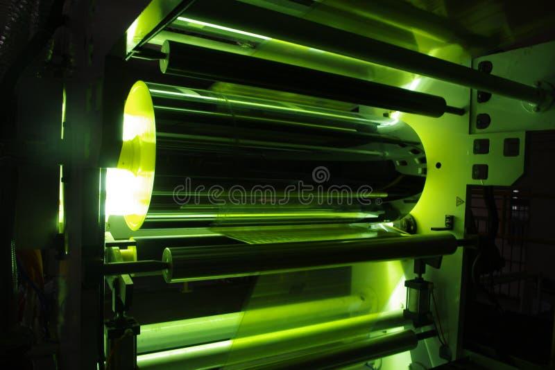 UVbeschichtungs-Plastikfilm stockfoto