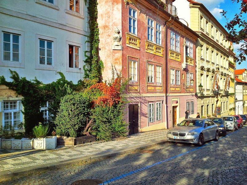 Uvoz Street in bright sunny day stock photos