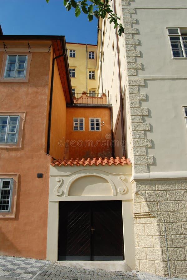 Uvoz street in Prague. stock image