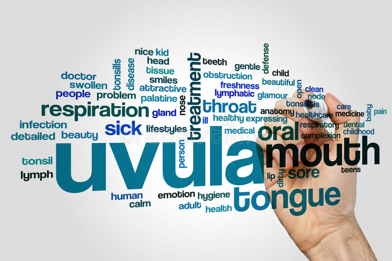 Uvula word cloud stock photography