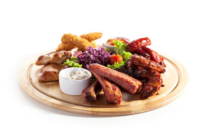 Uwędzeni foods fotografia royalty free