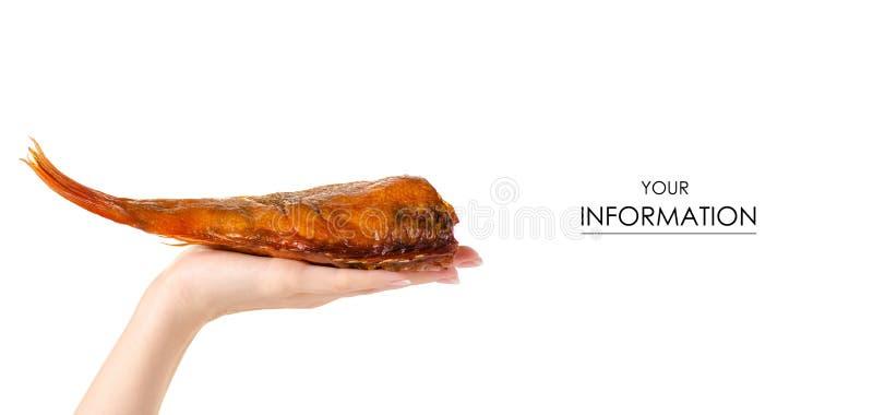 Uwędzona rybia żerdź w ręka wzorze zdjęcie royalty free