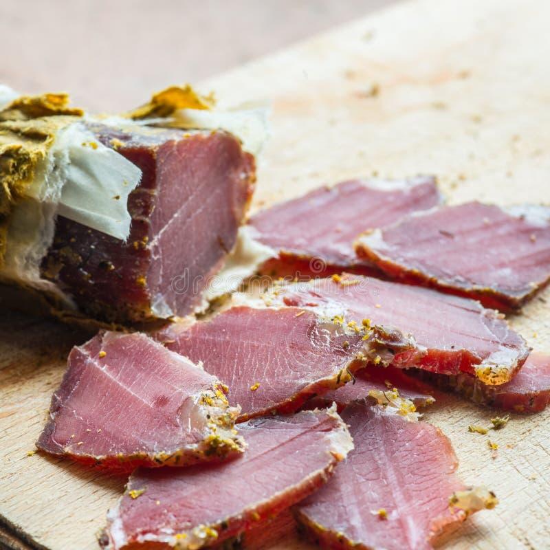 Uwędzony dzikiego knura mięso obrazy royalty free